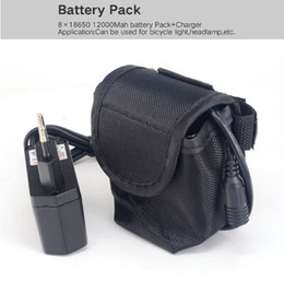 Light bike bags online shopping - 8x18650 Battery Pack mAh v Lithium Battery Pack FOR Led Bike bicycle Lights lamp with battery Bag