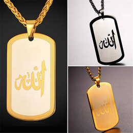 $enCountryForm.capitalKeyWord Canada - U7 New Hot Gold Plated Vintage Dog Tag Pendant Necklace Religious Medals Charms Stainless Steel for Men Women Perfect Gift Jewelry GP2424