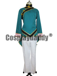 Wholesale rwby cosplay resale online - RWBY Beacon Academy Team Lie Ren Green Cosplay Costume Whole Set S002