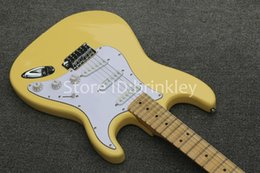 $enCountryForm.capitalKeyWord Canada - Brinkley shop custom cream color tremolo electric guitar,maple Scalloped Fingerboard, Yngwie Malmsteen big head strat Electric Guitar