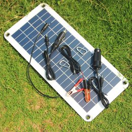Chinese  High Quality Semi-flexible 18V 5V 10.5W Portable Solar Panel Charger For 12V Car Boat Motor Battery Charger DIY Solar System Free Shipping manufacturers