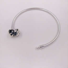 2ba960ed7 Authentic 925 Sterling Silver Moments Smooth Silver Clasp Bracelet Fits  European Pandora Style Jewelry Charms Beads 590728