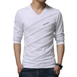 Barato Manga Comprida Homens Spandex-2017 Spring T Shirt Men Casual t-shirt Homens manga comprida camiseta homme camiseta jersey Tee Tops Brand Clothing