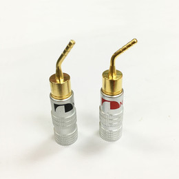 Stereo Connector Wiring NZ - 40Pcs High Quality New 24K Gold Nakamichi Speaker Pin Angel 2mm Banana Plugs Speaker wire Screw Lock Connector