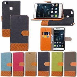 $enCountryForm.capitalKeyWord Australia - PU Leaf Leather Flip Fold Stand Wallet Case with [ID&Credit Card Slot] for Huawei Ascend Honor P8 Lite P9 P10 Y5 II
