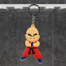 $enCountryForm.capitalKeyWord Canada - 8.2cm Anime Dragon Ball Kuririn Keychain Pendant PVC Action Figure Doll for kids Christams gift free shipping retail