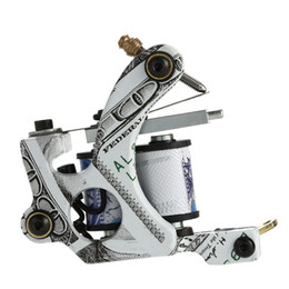 Doublure En Tatoo Pas Cher-10 Wrap Coils Tattoo Machine Shader Liner Acier au carbone Rotary Assorti Tatoo Motor Gun Instrument Outils de maquillage permanent