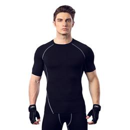 Großhandel Fitness-Anzug Männer Basketball Trainingskleidung elastische Kompression schnell trocknend Sport Tights kurze Ärmel