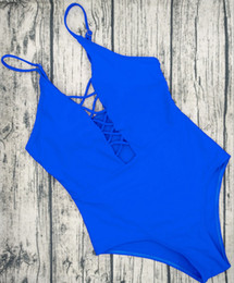 spandex bathing suits 2019 - One Piece Swimsuit 2017 Summer Swim Wear Vintage Beach Wear Bandage Monokini Swimsuit Sexy Women Bodysuit Bathing Suit c