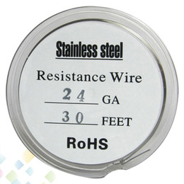 30 Feet Stainless Steel Wire Fast Heating Resistance Coil AWG 22 24 26 28 Gauge for Rebuildable RDA E Cigarette DHL Free on Sale