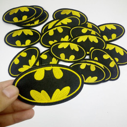 $enCountryForm.capitalKeyWord Australia - 5pcs Wholesale Cartoon Kids Batwoman Batman patches Iron On Patches Clothes Patches For Clothing Girls Boys Embroidered Pathces Strip badge