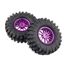 $enCountryForm.capitalKeyWord UK - 4x Aluminum Wheel Rubber Tires Sponge Rim RC Climbing Car Racing 123P-7006L