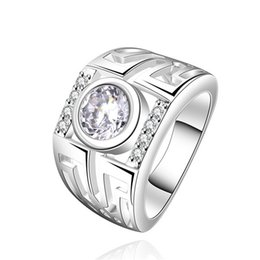 Hollow Fingers Canada - Hollow staircase pull sterling silver finger ring fit women,wedding white gemstone 925 silver rings Solitaire Ring Wedding Rings ER474