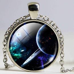 $enCountryForm.capitalKeyWord Canada - celestial body necklace Universe Jewelry Galaxy Pendant necklace Universe Space Out of Space for Men special Gift