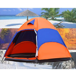 $enCountryForm.capitalKeyWord NZ - Wholesale- Brand Outdoor 5-8 Persons Large Tent Sunshade Double Layer Sun Shelter Rainproof Anti-UV Shed Camping Hiking Travel Tent