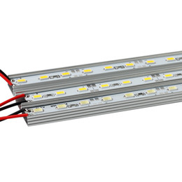 Chinese  DC12V 50cm LED Bar Light 36LEDs SMD 5630 Hard Strip Lamp Cold   Warm  Blue Green Red Bar Light + U Aluminium Shell manufacturers