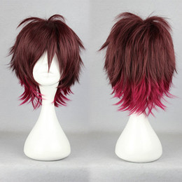 $enCountryForm.capitalKeyWord NZ - MCOSER Free Shipping 35cm Short Red Ombre Amnesia Shin Halloween High Quality Synthetic Cosplay Wig