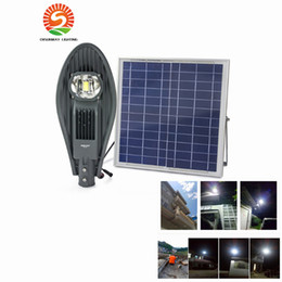 online shopping IP65 Integrated All in One Remote Control W W Solar Power LED Street Light Lamp Outdoor Garden Lighting with M Cable