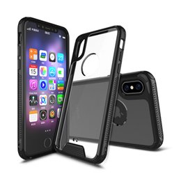 Crystal Clear Phone Cases NZ - Fashion Crystal Acrylic Phone Case For iPhone x 8 6 7 plus Silicone tpu Cover For iPhone8 Case Ultra Slim Clear Case For iPhone 8