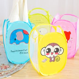 $enCountryForm.capitalKeyWord Canada - Portable Folding Cartoon Clothing Case Laundry Basket Bag Hamper Baskets For Toys Dirty Clothes Garment kids Clothing Storage