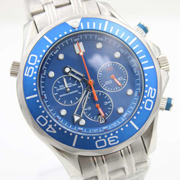 Racing Steel Canada - Wholesale - New style luxury mens sports watches chronograph race blue limited quartz watch moon stainless steel original clasp stainless