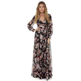 print chiffon floor length dress UK - Pregnant Women V Neck Long Chiffon Dress Maternity Dress For Photo Shoot Gown Wedding Maxi Dresses Maternity Photography Props