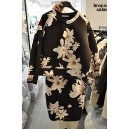 Dress Stamps Canada - Han Guodong gates 2016 Hitz sweet flower jacket skirt Korean stamp two suit female sweet