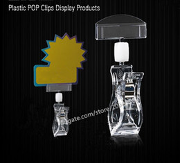 pop clips signs Canada - 10pcs Good Quality Clear POP Plastic Sign Paper Card Display Price Label Tag Promotion Clips Holders In Supermarket Retails free shipping