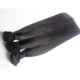 Discount russian peruvian hair - Brazilian Straight virgin Human Hair Weave Bundles 7A Grade 3 4 5pc Peruvian Malaysian Indian Cambodian Mongolian remy H