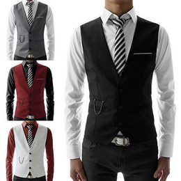 Les Affaires De Gros Font L'affaire Des Hommes Pas Cher-Vente en gros Hommes Chaud Mode Veste Jacket Slim Fit Vest Casual Veste d'affaires Formal Waistcoat