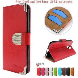 Wholesale alcatel resale online - leather wallet case For Coolpad Defiant metropcs For Alcatel A30 Verizon metropcs case Huawei Y5 PU Diamond Buckle Card Credit