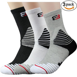 Sock Packs Australia - 3 Pack Men's Sports Outdoor Socks Basketball Football Athletic Compression Crew Sock