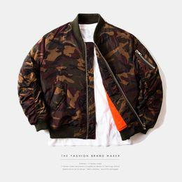 $enCountryForm.capitalKeyWord Canada - Highstreet European style autumn winter airmen bomber jacket men top quality fashion red camouflage men baseball jacket coat