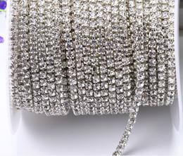 $enCountryForm.capitalKeyWord NZ - 10yards roll clear crystal SS8-SS18(2.5mm-4.5mm) silver gold base Rhinestone Chain apparel Sewing style diy beauty accessories