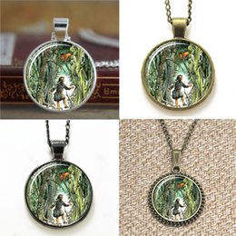 Lion pendant chains online shopping - 10pcs Lucy and Aslan in Narnia The Lion the Witch and the Wardrobe glass Necklace keyring bookmark cufflink earring bracelet