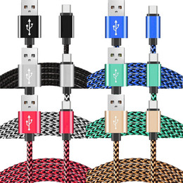 3m s6 edge online shopping - 100pcs cm m m M Aluminium Alloy Fabric Braided nylon type c micro V8 pin usb data charging cable for samsung s6 s7 edge s8 for htc