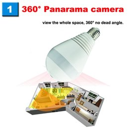 Cctv Wifi Ip Australia - Wireless IP Camera Bulb Light Wi-fi FishEye 960P 360 degree Mini CCTV VR Camera 1.3MP Home Security WiFi Panoramic Camera