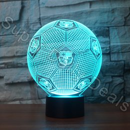 online shopping D LED Lamp Football Shaped Nightlight Colors D Optical Illusion Desk Table Lamp For Bedroom Decoration Factory