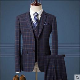 Discount Men S Plaid Suits Green | 2017 Men S Plaid Suits Green on ...