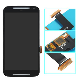 Discount lcd display moto g2 For Motorola Moto G2 XT1063 XT1068 XT1069 LCD Display Touch Screen Digitizer Assembly Replacement with Free DHL Shipping
