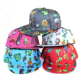 Hat Cap Base Ball UK - Hotsale Children Cartoon PVZ Cute HIP HOP Base Ball Boy Girl Caps Hip Hop Size Adjustable Caps Hats 20PCS Free Ship