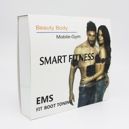 Machines À Corps Minces Pas Cher-Nouveau stimulateur électrique intelligent de forme physique de muscle Corps d'EMS amincissant la machine de beauté Exerciseur de muscle Masseur électroluminescent de corps Fat Burning
