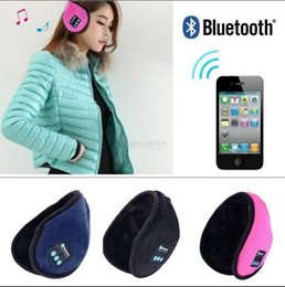 Speaker Ear Australia - Wireless Bluetooth Earmuffs Music Headset Stereo Headphone Winter Warm Leather Earmuff Speaker 3 Colors 10pcs OOA3095