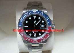 Wholesale Luxury Top High Quality Automatic Men s Mens Watches mm K White Gold Blue Red Pepsi Bezel