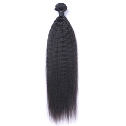 Discount hair can dyed bundles - Brazilian Virgin Human Hair Yaki Kinky Straight Unprocessed Remy Hair Weaves Double Wefts 100g Bundle 1bundle lot Can be