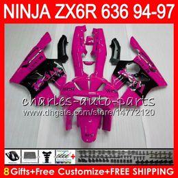 $enCountryForm.capitalKeyWord NZ - 8Gifts 23Colors For KAWASAKI NINJA ZX6R 94 95 96 97 600CC ZX-6R pink west 33NO58 ZX636 ZX 636 ZX 6R ZX600 1994 1995 1996 1997 Fairing kit