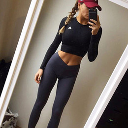 Barato Calças Cinza Skinny Yoga-Ladies Leggings Sporting High Waist Fitness Leggings Mulheres Calças magras Workout Yoga Calças Grey Leggins Activewear