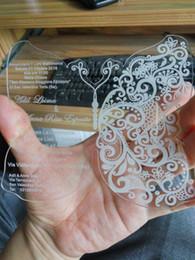 $enCountryForm.capitalKeyWord Canada - Acrylic clear Wedding invitations card with Butterfly pattern,wedding invites,acrylic invitations,wedding invitations(1Lot=100Pieces)