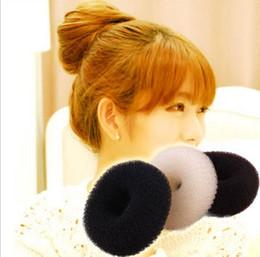 Hair buns sizes online shopping - 12pcs Fashion Bun Hair Former Doughnut Shaper Ring Styler Hairdressing Hair Rubber Bands hair tie bun for size S M L
