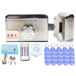 card reader locks UK - stainless steel intelligent entry device Door Access Control System Remote Control ID Card Reader Open Electric Lock